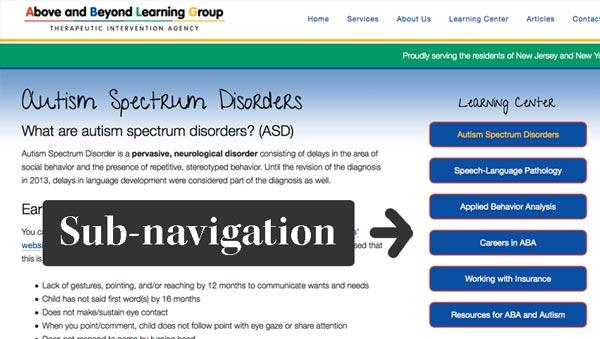 ablg sub-navigation