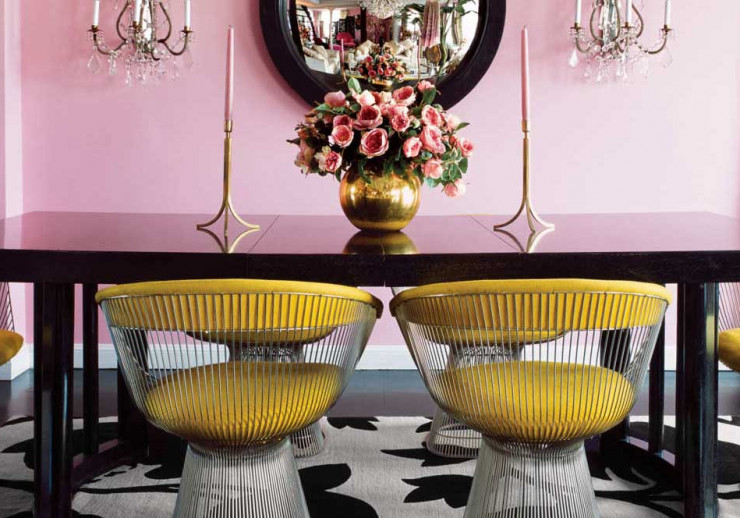 Interior Design as Web Design Inspiration: Betsey Johnson's Dining Room