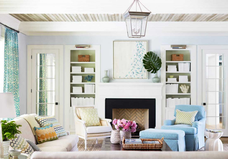 Interior Design as Web Design Inspiration: The Beach Style Living Room