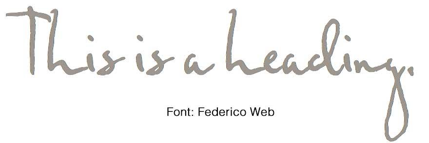Federico Web Font