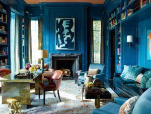 Interior Design as Web Design Inspiration: <br/>The Bold Blue Study