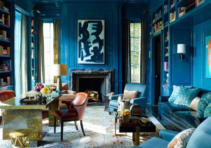 Interior Design as Web Design Inspiration: The Bold Blue Study