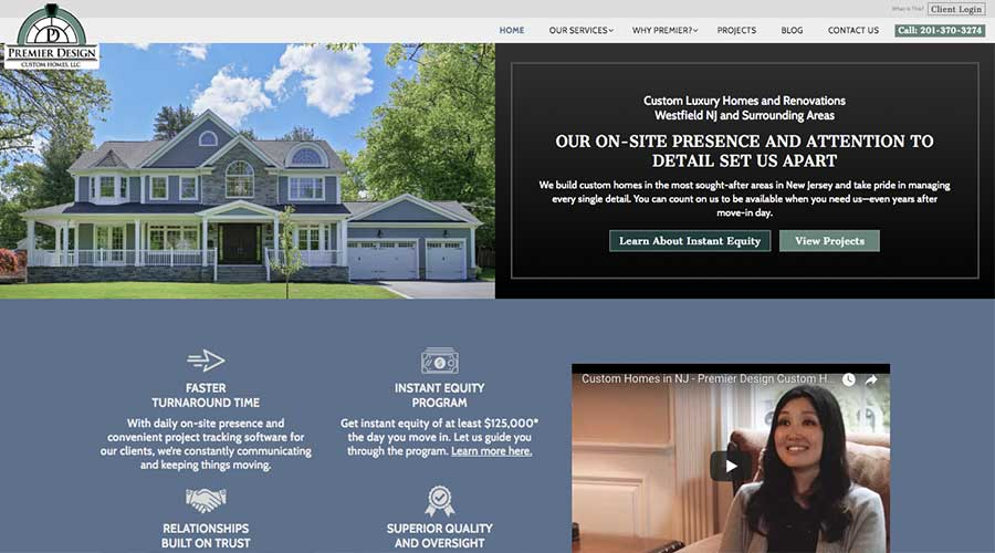 Custom Home Builder Website - Contractor Web Design - Curio Electro NJ