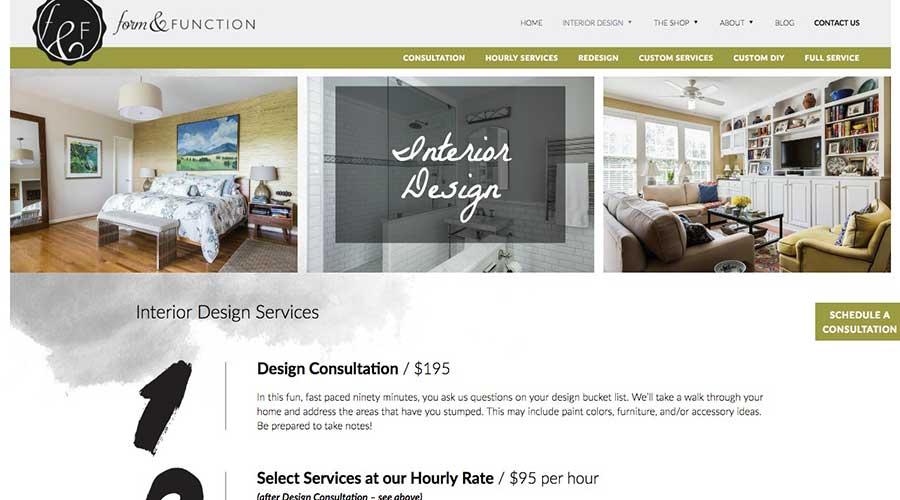 Interior Design Service Form Function