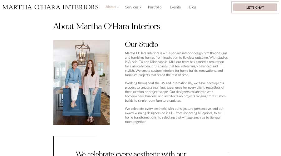 About Martha Ohara Interiors