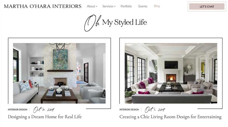 Martha Ohara Interiors Blog