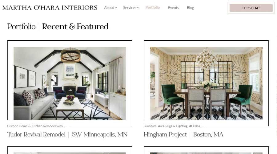 Martha Ohara Interiors Portfolio
