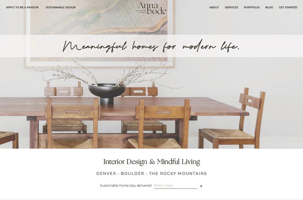 Annabode Interior Design Monitor Mockup